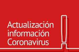 Actualización de información sobre coronavirus