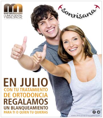 Este mes oferta ortodoncia con un blanqueamiento dental gratis en nuestras clínicas de Málaga